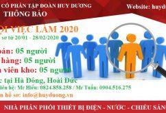 Cơ hội tuyển dụng tại Huy Dương 2020